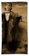Count Dracula In Sepia Bath Towel