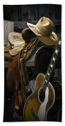 Country And Western Music Bath Towel