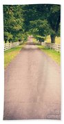 Country Back Roads Bath Towel