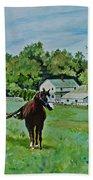 Country Horses Bath Towel