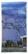 Country Horses Lightning Storm Ne Boulder County Co Hdr Bath Towel