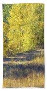 Country Lane Digital Oil Painting Bath Towel
