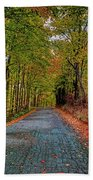 Country Lane In Autumn Bath Towel