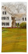 Country Moments-farmhouse In Woodstock Vermont Bath Towel