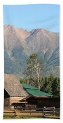 Country Ranch In Mountains Bath Towel