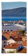 Coupola Sports Hall Landmark In Zadar Bath Towel