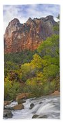 Court Of The Patriarchs Zion Np Utah Hand Towel by Tim Fitzharris