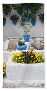 Courtyard With Washing Boards Hand Towel