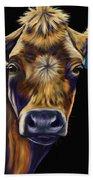 Cow Art - Lucky Number Seven Bath Towel