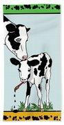 Cow Artist Cow Art II Hand Towel
