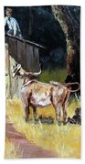Cowboy On The Outhouse  Hand Towel