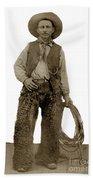 Cowboy With Woolies Cowboy Hat 1900 Bath Towel