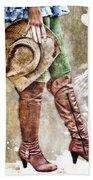 Cowgirl Boots Bath Towel