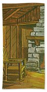 Cozy Fireplace At Lake Hope Ohio Bath Towel