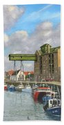 Crabbing - Wells-next-the-sea Norfolk Bath Towel
