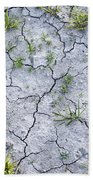 Cracked Earth Background Bath Towel