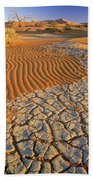 Cracking Dirt And Dunes Namib Desert Bath Towel