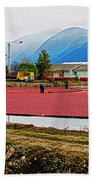 Cranberry Field Workers Bath Towel