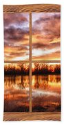 Crane Hollow Sunrise Barn Wood Picture Window Frame View Bath Towel