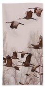 Cranes Across The Sky Bath Towel