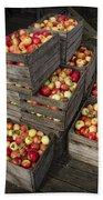 Crated Apples Bath Towel