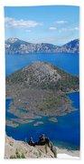 Crater Lake Wizard Island Bath Towel