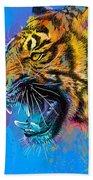 Crazy Tiger Bath Towel