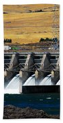 The Dalles Dam Bath Towel
