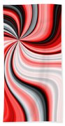 Creamy Red Graphic Bath Towel