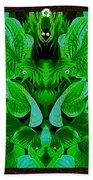 Creatures In The Green Fauna Bath Towel
