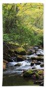 Creek In The Woods Bath Towel