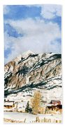 Crested Butte Mountain Bath Towel