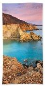 Cretan Coastline. Bath Towel