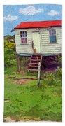 Crooked Little House - Orange Cats Bath Towel