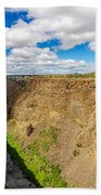 Crooked River Canyon And Bridge Bath Towel
