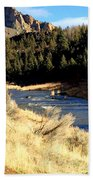 Crooked River December Morning Bath Towel