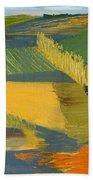 Crop Fields Bath Towel by Erin Fickert-Rowland