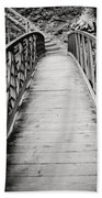 Crossing Over - Black And White Bath Towel