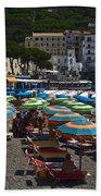 Crowded Beach Bath Towel