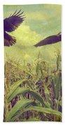Crows Of The Corn Bath Towel
