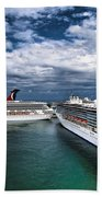 Cruise Ships Port Everglades Florida Bath Towel
