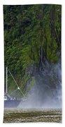 Cruising By A Waterfall Bath Towel