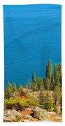 Cruising Jenny Lake Bath Towel