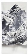 Crumpled Aluminum Foil Hand Towel