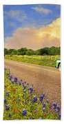 Crusin' The Hill Country In Spring Bath Towel