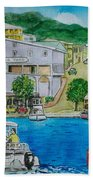 Cruz Bay St. Johns Virgin Islands Bath Towel