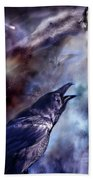 Cry Of The Raven Bath Towel