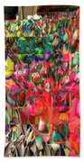 Tulips Of Many Colors - Nyc Markets Bath Towel