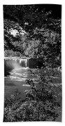 Cumberland Falls Black And White Bath Towel