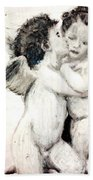 Cupid And Psyche By William Bouguereau Bath Towel